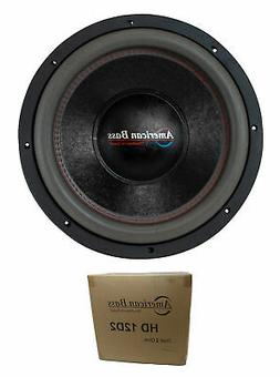 "American Bass 12"" HD Series 4000W Dual 2 Ohm Subwoofer HD-12"