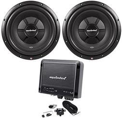 "Rockford Fosgate R2SD2-12 12"" Shallow Car Subwoofers+R500X1"