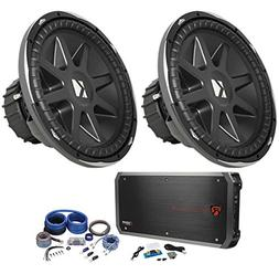 """Package:  Kicker 10CVX15-4 Ohm Round 15"""" Subwoofers Totaling"""