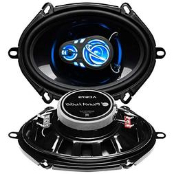 "Planet Audio AC573 Full Range 5"" x 7"" 3-Way Speaker Pair"
