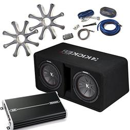 "Kicker Bass Package - 43DCWR102 Dual 10"" CompR Loaded Enclos"
