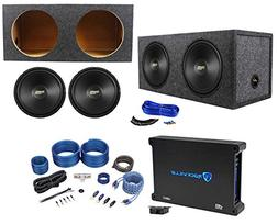 "Coustic by MTX C124 12"" 1000w Subwoofers+Sealed Sub Box+Mon"