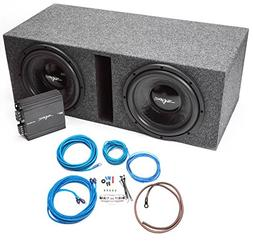"Skar Audio Dual 12"" Complete Loaded Subwoofer Bass Package w"