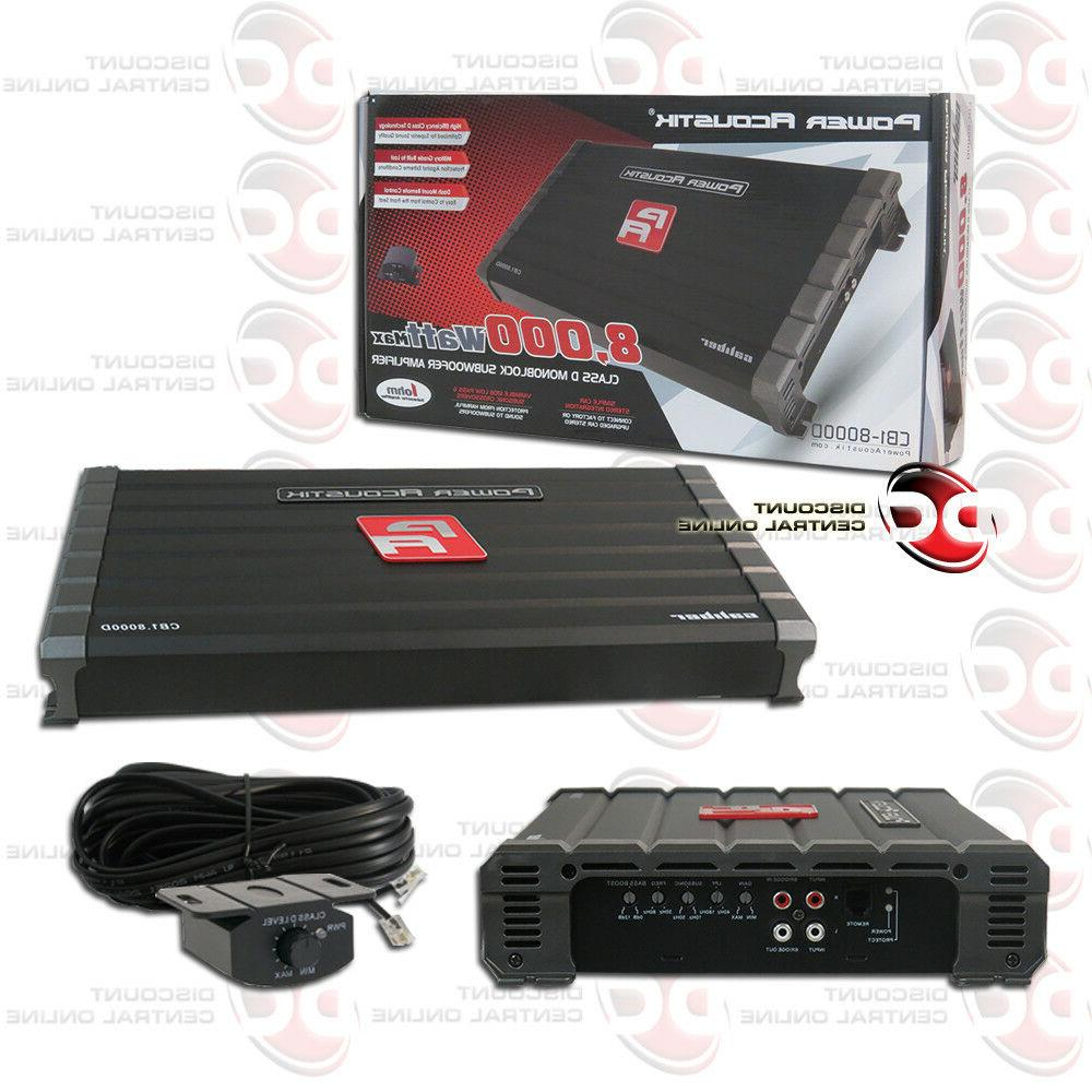 POWER CLASS MONO BLOCK 1-CHANNEL SUBWOOFER AMPLIFIER 8000W