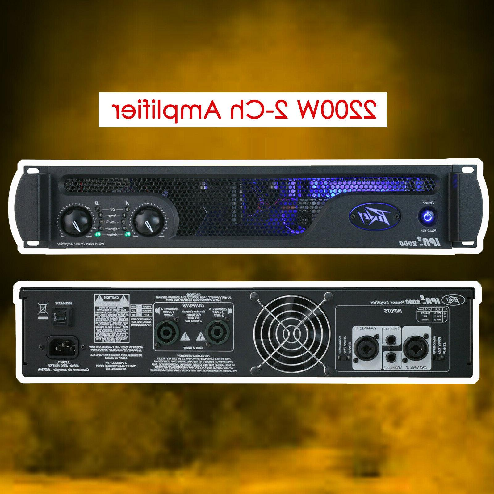 new ipr2 2000 2200w 2 channel class
