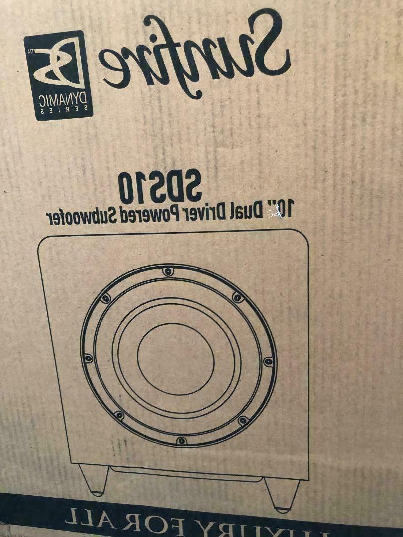 sds 10 dual driver powered subwoofer 500w