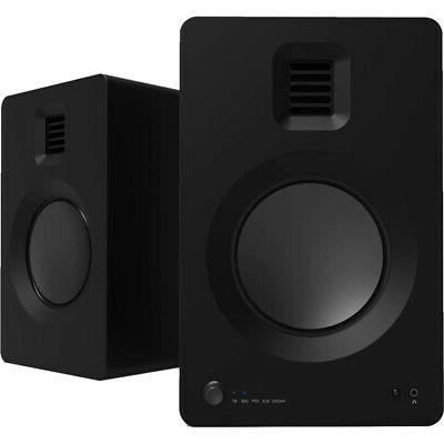 tuk matte black powered speaker with bluetooth