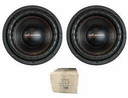 "Pair of 15"" 4000W Dual 2 Ohm Subwoofers American Bass XFL-15"