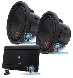 "pkg Pair of Alpine SWR-12D2 12"" Dual 2-Ohm Type-R Series Sub"