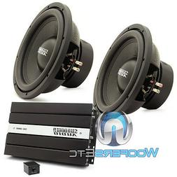 "pkg  SUNDOWN AUDIO E12 V3 D4 12"" 500W SUBWOOFERS + SAE-1000D"