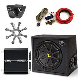 "Kicker 12"" Ported Bass Package Includes DXA2501 Amp, Amp Kit"