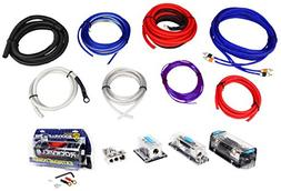Rockville RDA0+4K 0+4 Gauge Dual Amplifier Installation Kit+