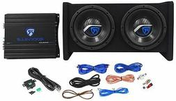 "Rockville RV8.2A 800 Watt Dual 8"" Car Subwoofer Enclosure+Mo"