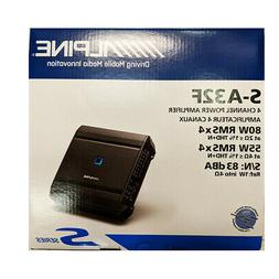 Alpine S-Series 4-Channel Class D Amplifier S-A32F