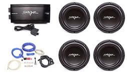 Skar Audio 4X VVX-8v3 D2 800 Watt Subwoofers with RP-1500.1D