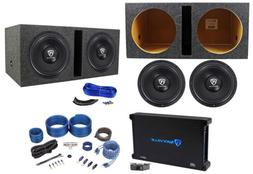 "Rockville W12K6D2 V2 12"" 4800w Subwoofers+Vented Box+Mono A"