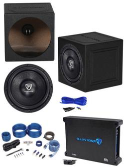 "Rockville W12K6D4 V2 12"" 2400w Car Subwoofer+Sealed Box+Mono"