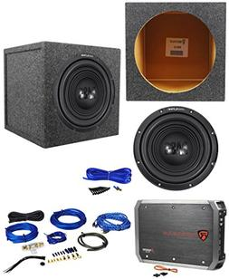 "Alpine W12S4 12"" 750w Car Subwoofer+Sealed Sub Box Enclosure"