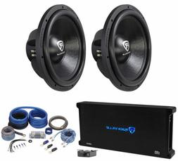 "Rockville W15K6D2 V2 15"" 8000w Car Subwoofers Subs+Mono Amp"