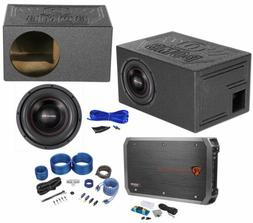 """American Bass XFL-1022 2000w 10"""" Subwoofer+Vented Box+Mono A"""